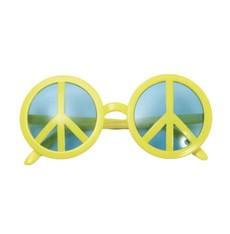 Brýle Hippies  Peace symbol žluté