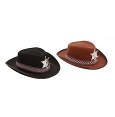 Dětský klobouk Sherif hnědý