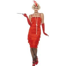 Kostým Flapper dlouhé šaty charleston červené