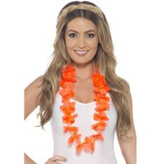 Havajský květinový věnec oranžový