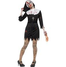 Kostým na halloween Zombie jeptiška