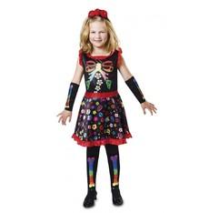 Dětský kostým na halloween -  Veselá kostlivka