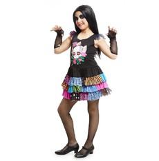 Halloweenský dětský kostým Barevná kostlivka