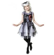 Dětský kostým na halloween Zombie dáma