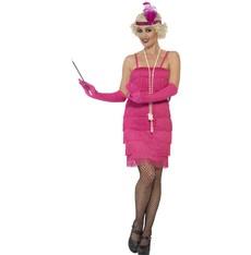 Kostým Flapper krátké, růžový charleston