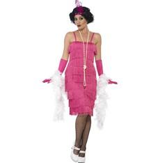Kostým Flapper dlouhé, růžové šaty charleston