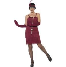 Kostým Flapper krátké, vínové - charleston