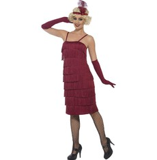 Kostým Flapper dlouhé, vínové - charleston