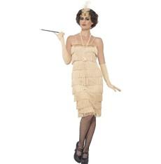 Kostým Flapper dlouhé, zlaté - šaty charleston