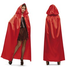Plášť s kapucí červený
