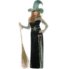 Kostým Čarodějnice zelená