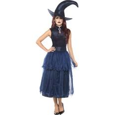 Dámský kostým Čarodějnice modrý