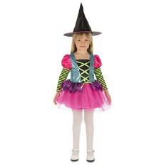Dětský kostým Čarodějnice - duhová