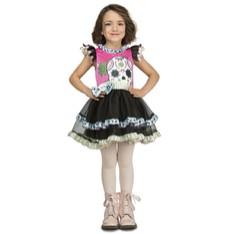 Dětský kostým Barevná kostlivka