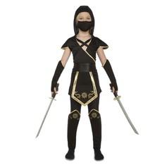kostým Černý Ninja pro holky
