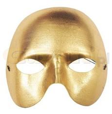 zlatá škraboška phantom - metalická
