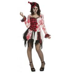 dámský kostým klauna na Halloween