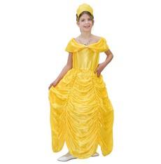 kostým princezny - žluté šaty a čelenka princezny
