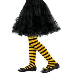 Dětské punčocháče pruhované žlutá a černá