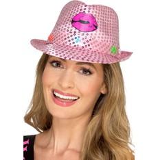 Svítící klobouk na párty