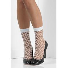 Síťované ponožky bíle