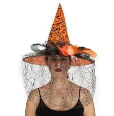 Klobouk Čarodějnice oranžový