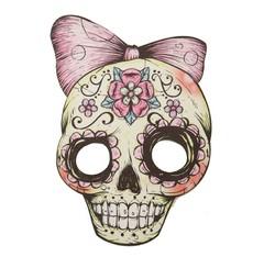 Maska Lebka barevná