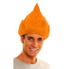 Paruka Troll oranžová