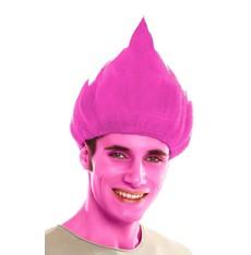 Paruka Troll růžová - crazy paruky