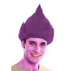 Paruka Troll purpurová