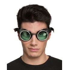 Brýle Steampunk zelené