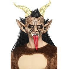 Maska s vlasy Čert s rohy