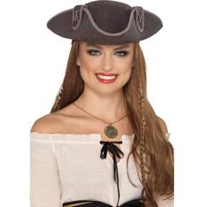 Klobouk Pirát šedý