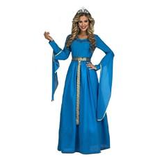 Dámský kostým Středověká princezna modrá