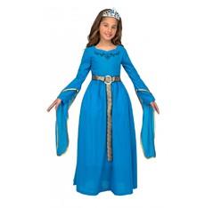 Dívčí kostým Středověká princezna modrá