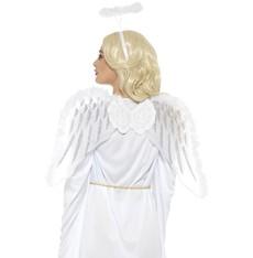 Sada Bílá křídla a svatozář 70x45 cm