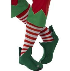 Ponožky Elf pruhované, červeno bílé