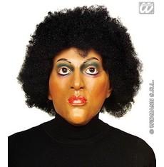 maska černoška s vlasy
